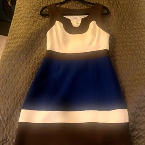 Bold color block dress